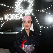 Sophia Lee, CEO of miss Korea BBQ, welcomes and greets all guests