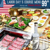Labor Day Special Course Paired with Tokki Soju $99.95 (Original price $119.95)