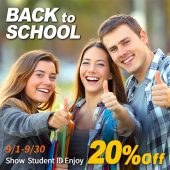 Back to School: Show Student ID Enjoy 20% OFF