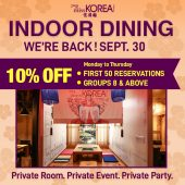 Indoor Dining is BACK!